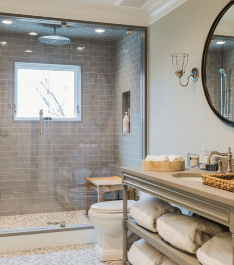 Guest post for Open shower bathroom