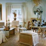 Neo Classical Neutral Living Room Interior Design