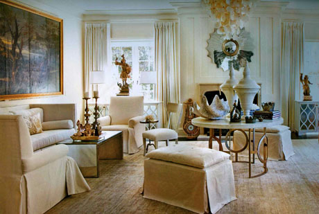 Classic Neutral Living Room Interior Design