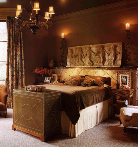 Spanish old world bedroom design