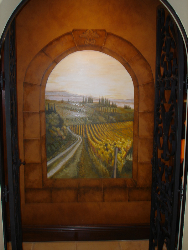 Spanish Tuscan Design Mural