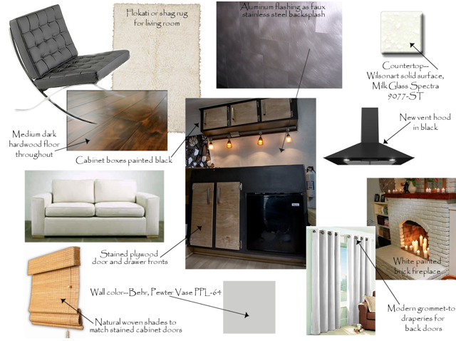 Interior design concept board 2 for Interior design concept