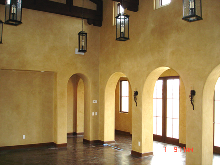 Tuscan look after Venetian plaster