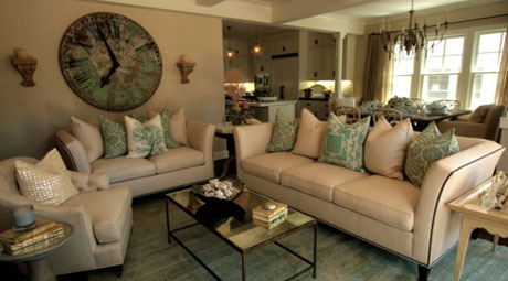 Seafoam Living Room Design