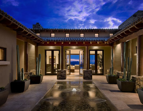 Courtyard Contemporary Spanish Exterior Design