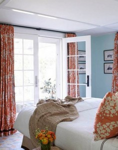 ... Orange-Pale-Blue-Bedroom-Interior – Newport Coast