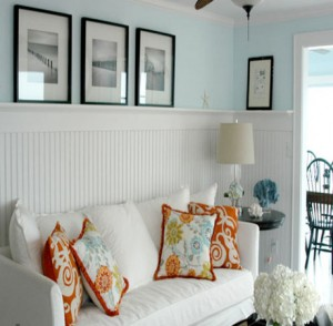 Orange-Turquoise-Beach-Living-Room-Design