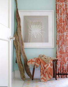 Orange-Turquoise-Beach-Vignette-Interior-Design