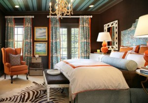 Orange-Turquoise-Bedroom-Interior-2