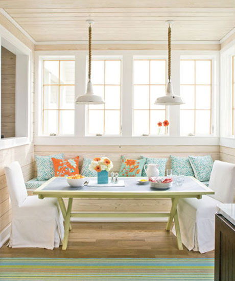 Orange-Turquoise-Dining-Nook-Interior-Design