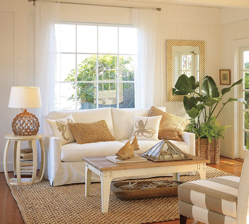 Superior Camel White Living Room