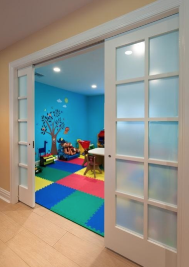 Colorful Child Playroom with Rubber Tiles