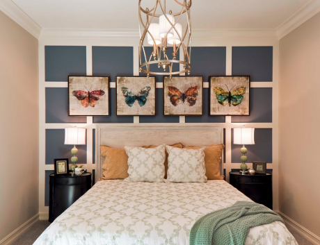 Butterfly Artwork Bedroom Design