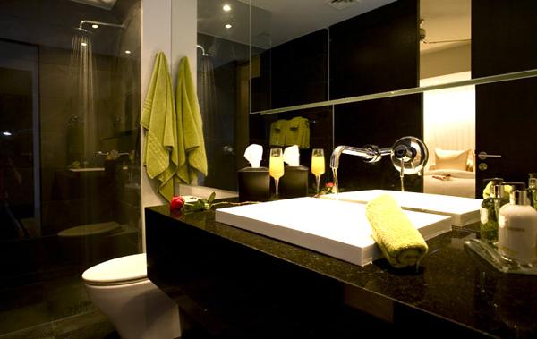 Rivers modern powder bathroom design 600 for Bathroom ideas gold coast