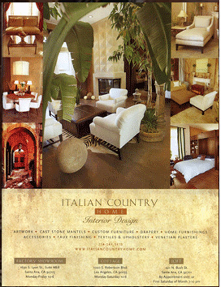 Italian Country Home Advertisement
