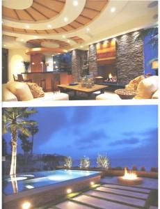 Living Room Design and Pool at Laguna Beach estate