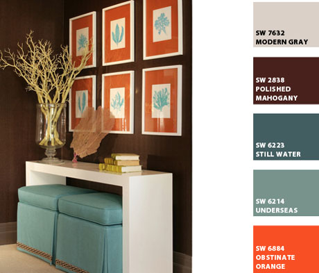 Interior Design Color Palettes turquoise and orange interior design color palettes
