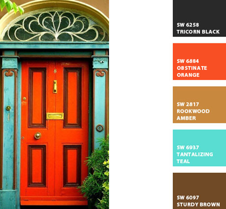 Orange-Turquoise-Door-Color-Palette