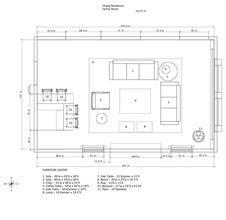 Family Room Floor Plan