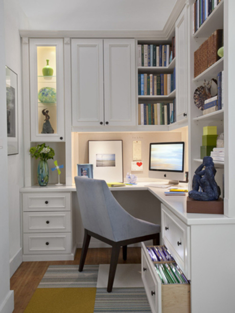 Transitional Home Office Design in Orange County
