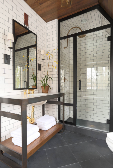 Black, White and Gold Bathroom Design