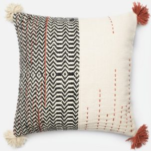 Black White Red Pillow