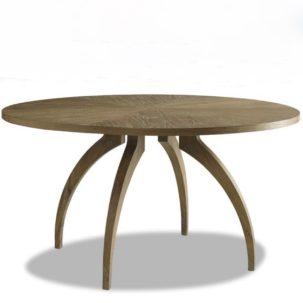 Atherton Teak Round Dining Table Brownstone Furniture