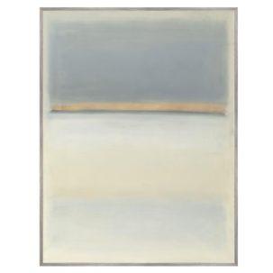 Blue Grey Ocean Abstract Art