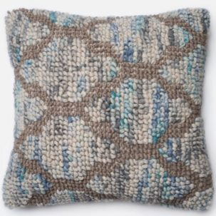 Blue Grey Beige Pillow