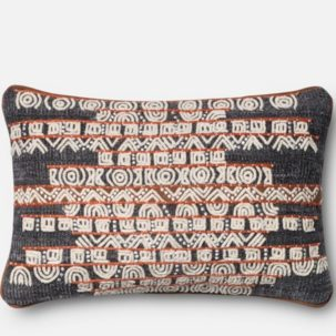 Grey Rust African Kidney Pillow