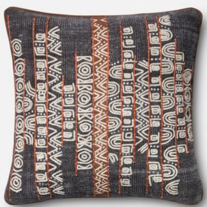 Grey Rust African Pillow