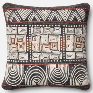 Grey Rust Beige African Pillow