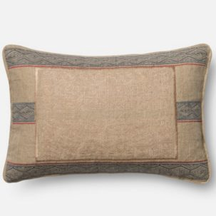 Blue Tan Red Kidney Pillow