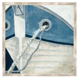 Blue and White Boat Art 2