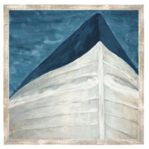 Blue and White Boat Art 1