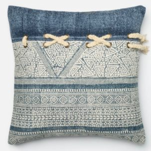 Blue White Pillow