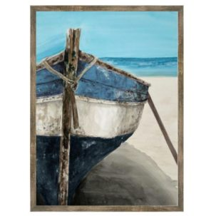 Blue and White Boat Art