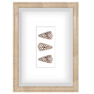 Brown and White Shadow Box Art