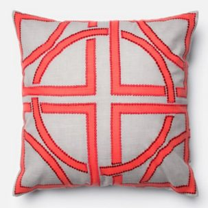Coral Grey Pillow
