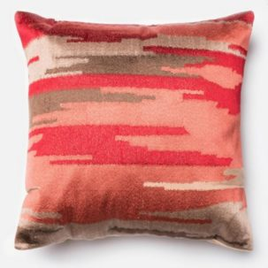Coral Red Brown Taupe Pillow