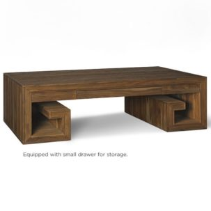 Crawford Greek Key Coffee Table Brownstone Furniture
