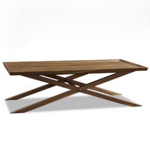 Crawford X-Base Coffee Table Brownstone Furniture