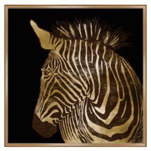Golden Zebra Art