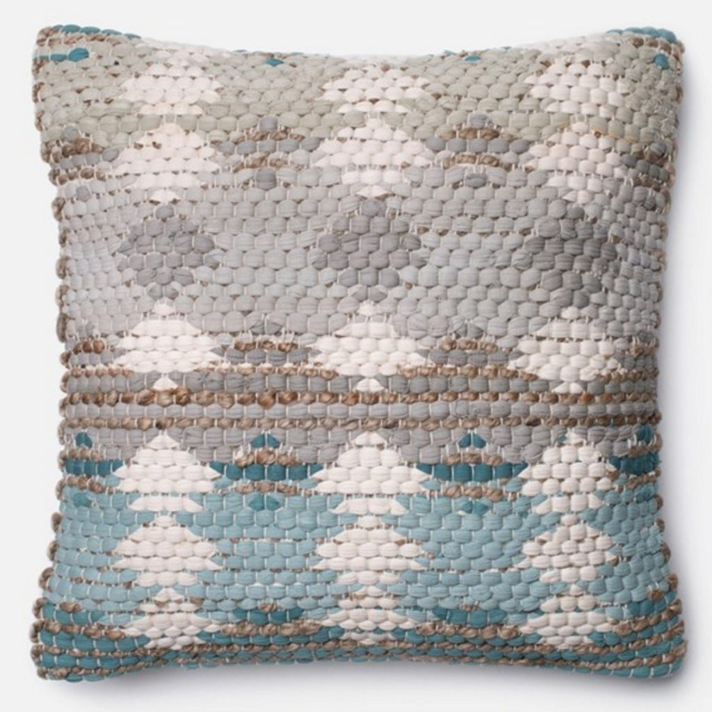 Blue Grey Beige Pillow 171 Newport Coast Interior Design