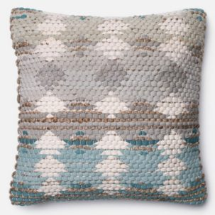 Grey Blue Beige Pillow