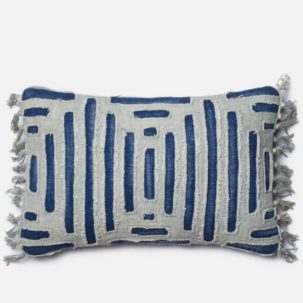 Grey Blue Kidney Pillow