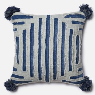 Grey Blue Pillow