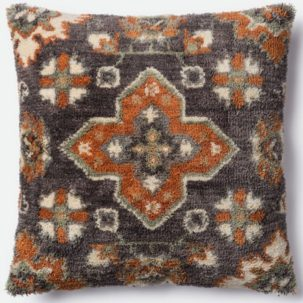 Grey Rust Beige Pillow