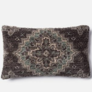 Grey Teal Kidney Pillow