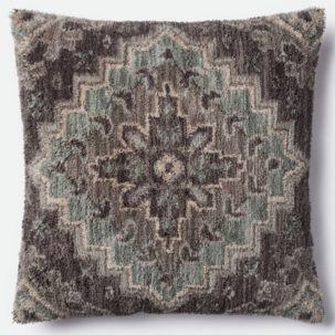 Grey Teal Pillow